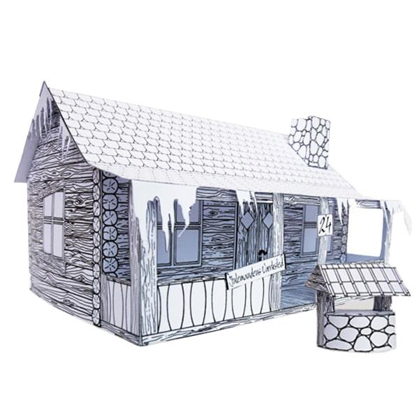 Julemandens Hus 3D samlesæt fra Julemandens Værksted - Julemandens Flaskepost