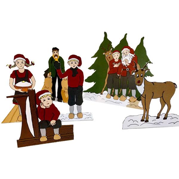 Kravlenisser/julenisser fra Julemandens værksted - Julemandens Flaskepost