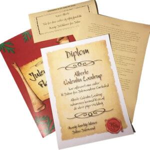 Diplom fra Julemanden - Tak for dine sutter Diplom
