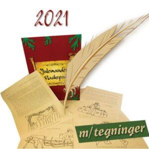 Julemandens Flaskepost med tegninger 2021 - 24 personlige nissebreve skrevet til dit barn