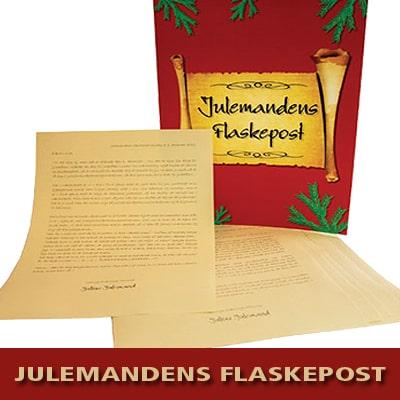 Julemandens flaskepost 24 personlige nissebreve til dit barn fra julemanden