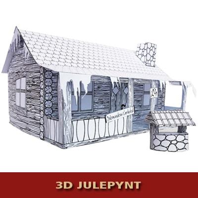 Julemandens Hus i 3D - Samlesæt og julepynt fra Julemandens Værksted