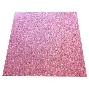 Selvklæbende glitterkarton i pink
