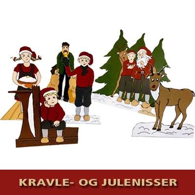 Kravle- og julenisser - Julepynt fra Julemandens Værksted