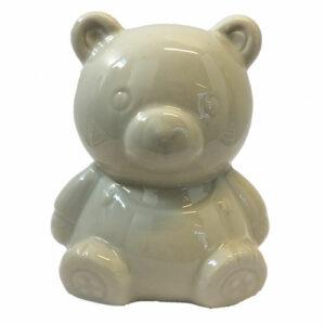 Porcelæns sparegris bamse - Porcelæn til mal selv
