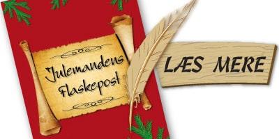 Julemandens Flaskepost - 24 personlige nissebreve