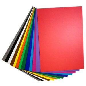 Kartonpakke A4 basis farver - Hobbykarton i basis farver