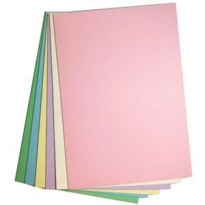 Kartonpakke A4 pastelfarver - Hobbykarton i pastelfarver